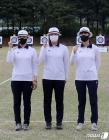 파이팅 외치는 도쿄올림픽 양궁 여자부 국가대표