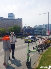 광주 북부경찰서, 전동킥보드 헬멧 착용 등 안전수칙 홍보