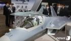 부산국제조선해양대제전에 전시된 KF-21 전투기