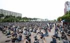 여의도공원에 모인 전국택배노동조합원들