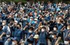 택배 근로자들 '사회적 합의 이행 촉구'