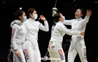 女 에페, 단체전에서 9년 만에 값진 은메달 획득